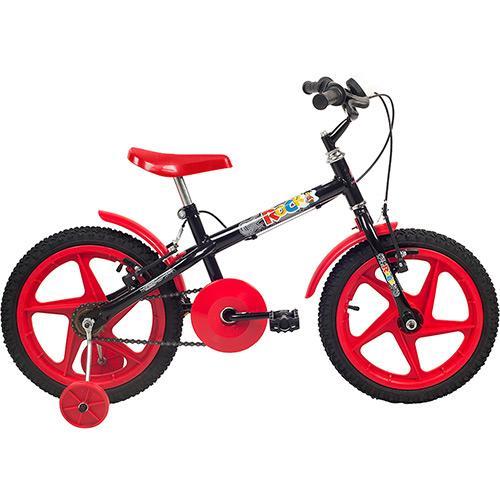 Bicicleta Verden Rock Aro 16 Rígida 1 Marcha - Preto/vermelho