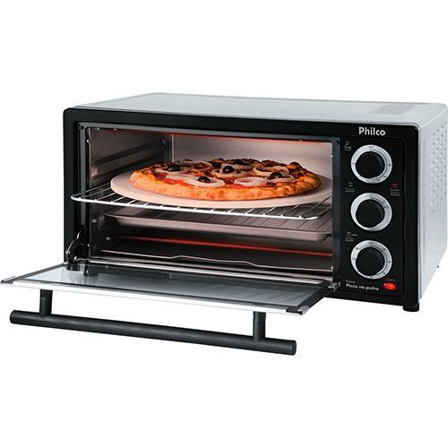 Forno 21l Philco Inox - Elétrico - Pizza na Pedra - 220v - 056102005