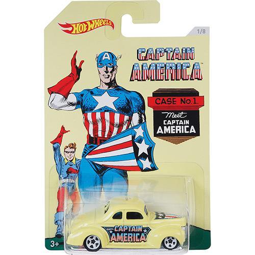 Carrinho Hot Wheels Capitão América 40 Ford Coupe Mattel