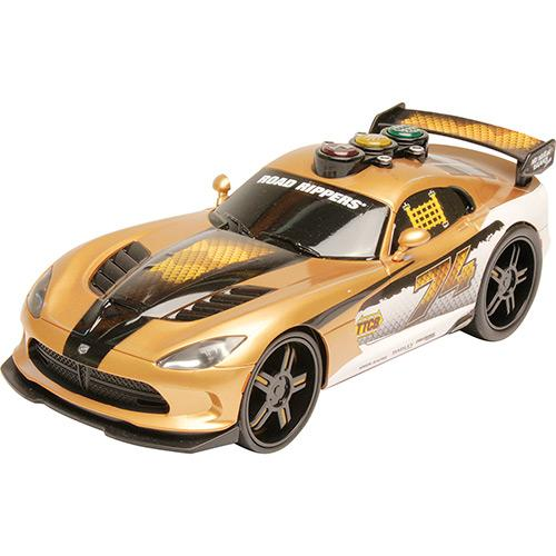 Carrinho Come Back Racers Viper Dourado 33600 Dtc