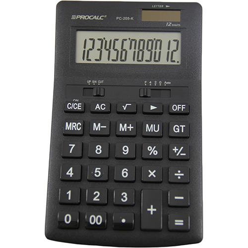 Calculadora Básica Preta Pc205k Procalc