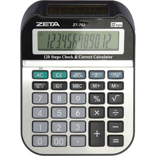Calculadora de Mesa 12 Dígitos Duplo Visor Zt702 Zeta