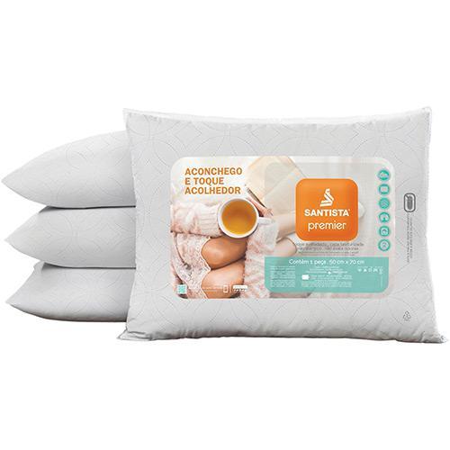 Travesseiro Santista Premier 100% Poliéster Siliconizado 50x70cm