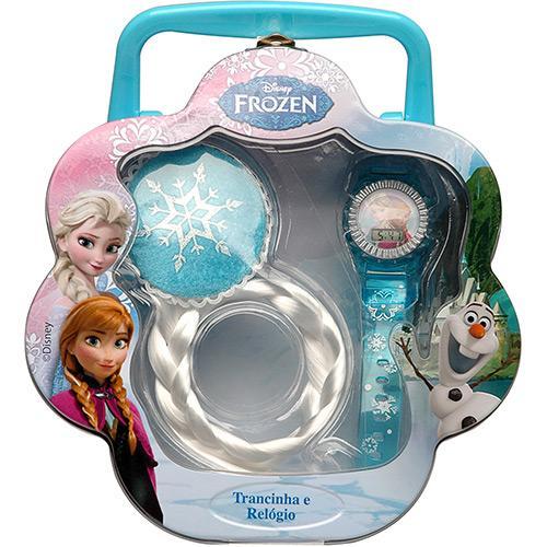 Kit Trancinha e Relógio Elsa Frozen 8364 Candide