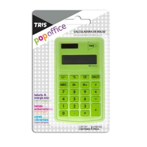 Calculadora de Bolso Office Verde Triss