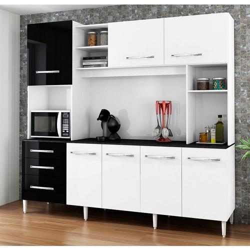 Cozinha Completa Csa Móveis Holanda 7 Portas 3 Gavetas