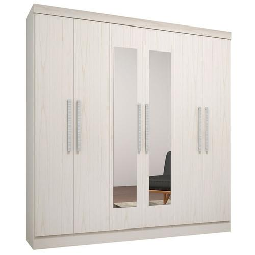 Guarda-roupas Qmovi Luna Com 6 Portas 3 Gavetas Com Espelho - 0636