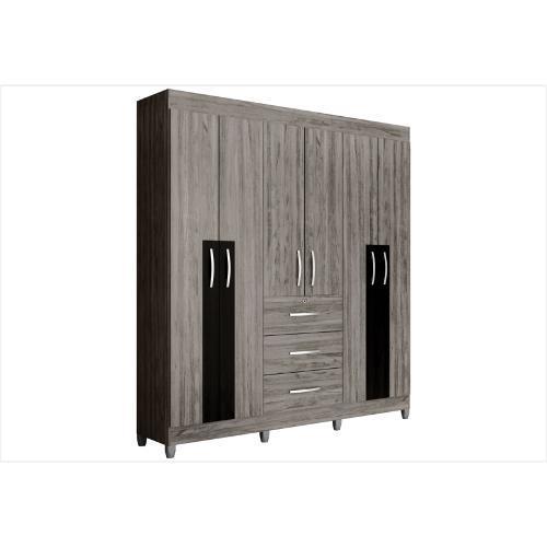 Guarda-roupas Colibri Silex Com 6 Portas 3 Gavetas