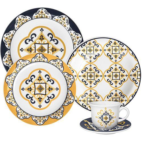 Aparelho de Jantar e Chá Floreal São Luis 20 Peças - Oxford