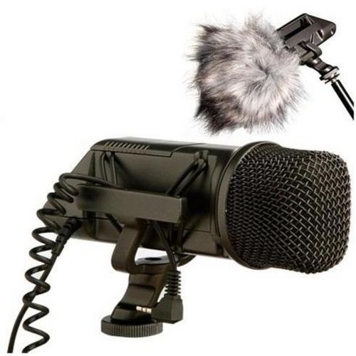 Microfone Videomic Pro Condensador Xy C/ Shockmount Rode