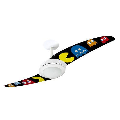 Ventilador de Teto 2 Pás Spirit Pac Man Fantasmas Coloridos Colorido 114cm - 220v - 201