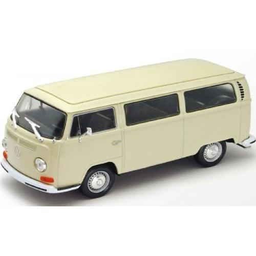 Carrinho Volkswagen Kombi Bus T2 1972 1:24 Bege Dmc2411 Welly