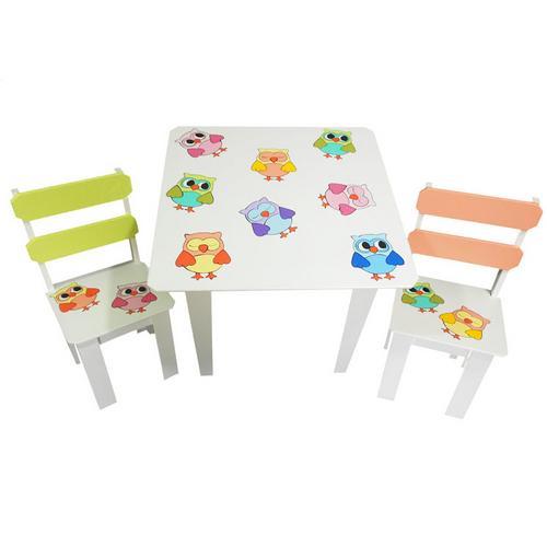 Mesa Infaltil de Atividades Com 2 Cadeiras Corujinhas Filomena-mena-mena