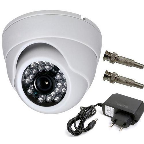 Câmera Power Xl Dome Branca Ccd Infravermelho 24 Leds 1200 Linhas 50mts - Ap-3688ir-w