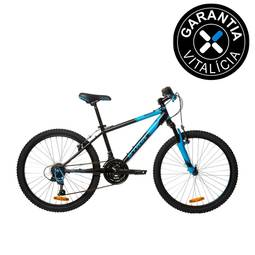 Bicicleta B'twin Rockrider 500 Aro 24 Susp. Dianteira 18 Marchas - Azul/preto